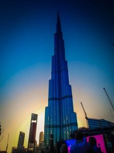 dubaj zdjednoczone emiraty arabskie burj khalifa noca