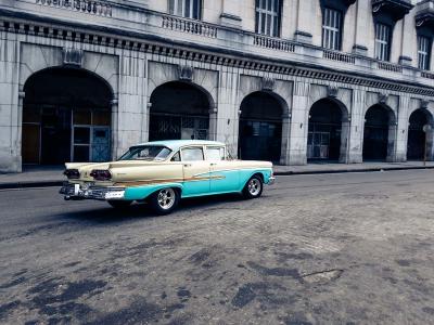 kuba hawana havana stare samochody parque central