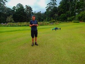 sri lanka nuwara eliya ogrod botaniczny dron