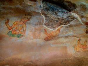 sri lanka sigiriya sigirija lion rock lwia skala ruiny freski
