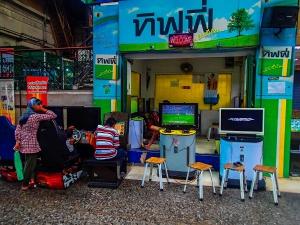 tajlandia bangkok dworzec hua lamphong salon gier