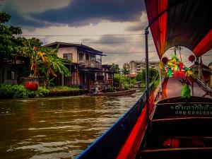 tajlandia bangkok rejs po rzece menam rybak