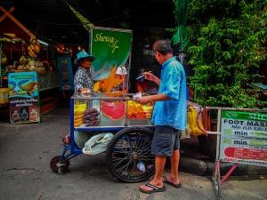tajlandia bangkok streetfood wozek