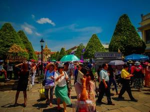 tajlandia bangkok wielki palac krolewski grand royal palace kolejka