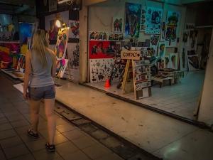 tajlandia chiang mai night bazaar wystawa obrazow