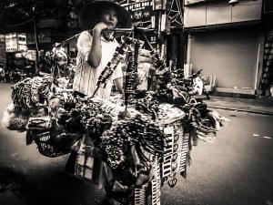 wietnam vietnam hanoi uliczni sprzedawcy