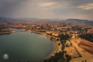 madagaskar madagascar antsirabe lac andraikiba drone jezioro