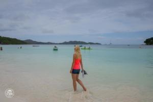 seszele seychelles praslin asia w wodzie