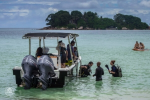 seszele seychelles praslin nurkowanie scuba diving whitetip divers transport