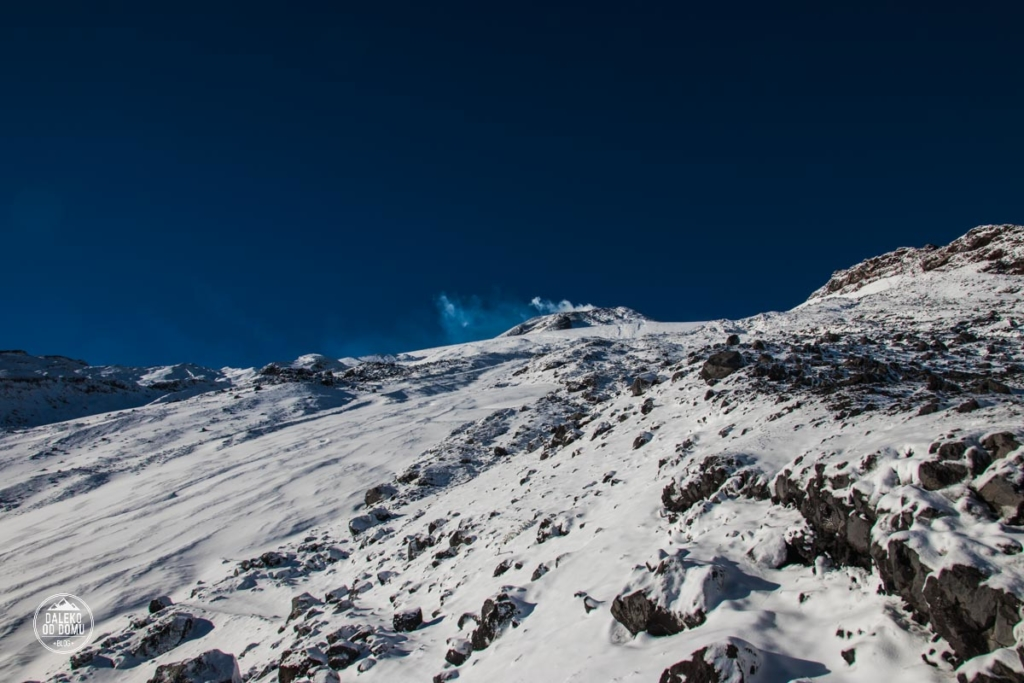villarrica chile pucon trekking wulkan szczyt