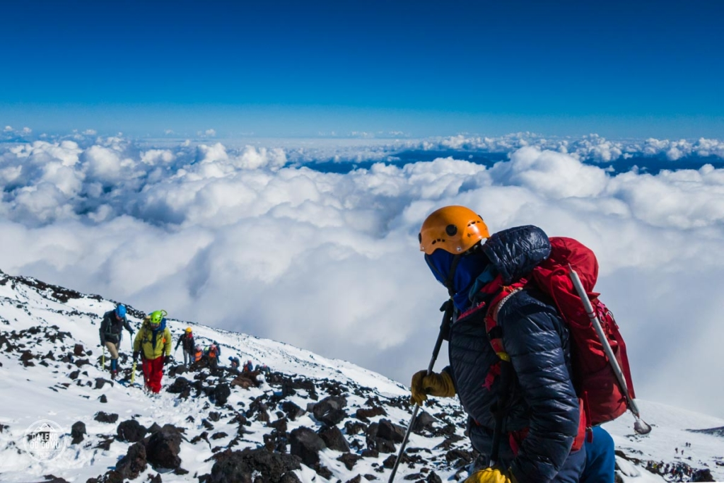 villarrica chile pucon trekking wulkan wspinaczka