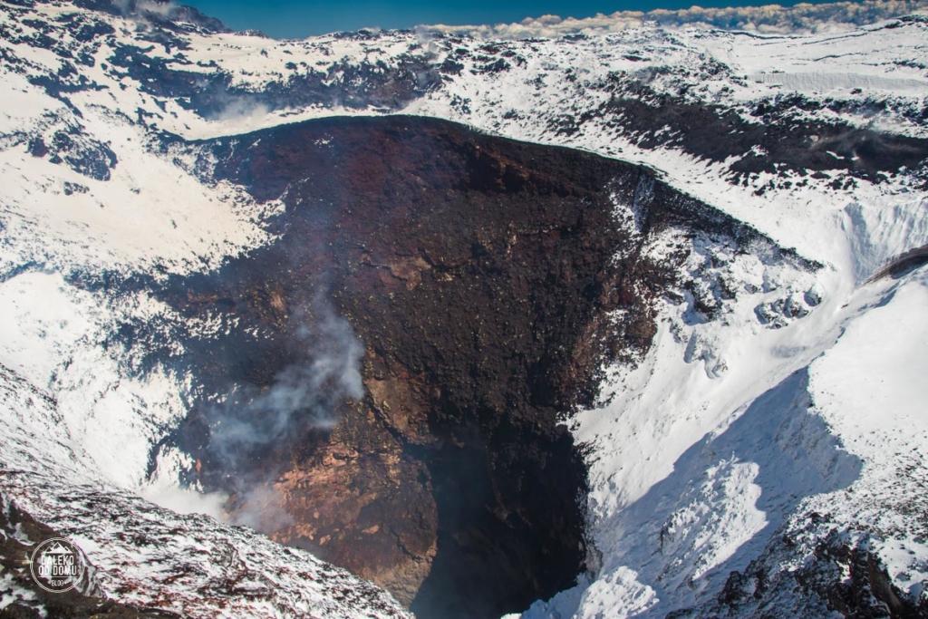 villarrica krater chile pucon trekking wulkan