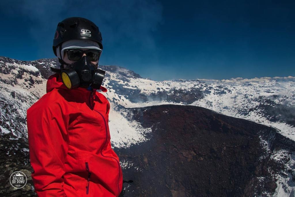 villarrica wulkan trekking chile pucon szczyt krater
