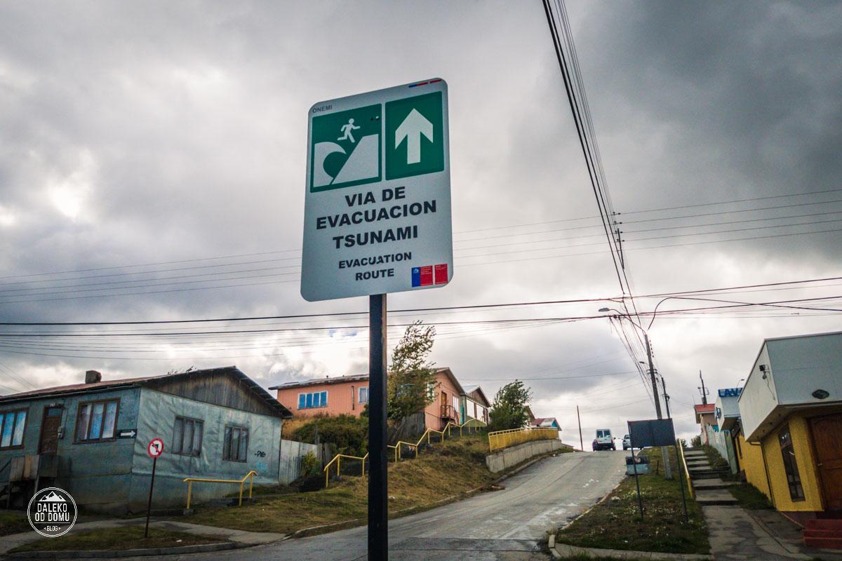 chile puerto natales tsunami znak