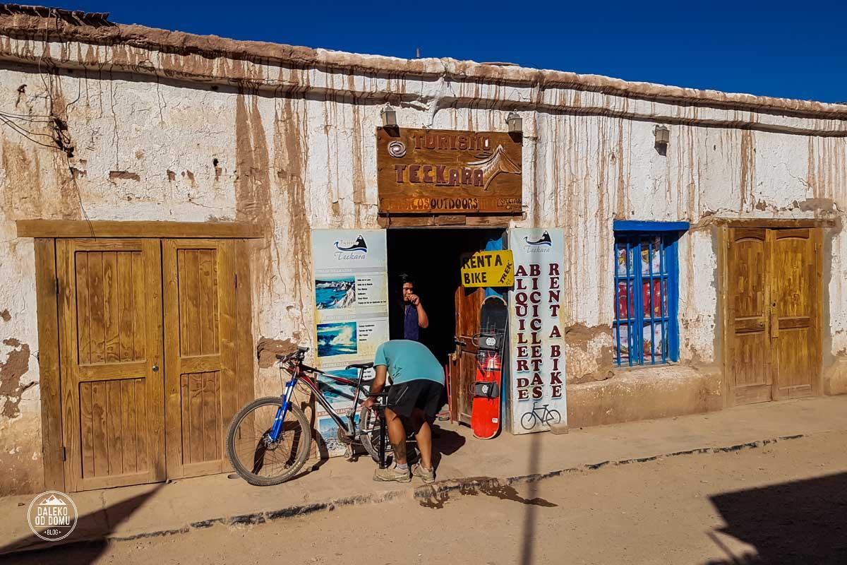 chile san pedro de atacama rowery wypozyczalnia