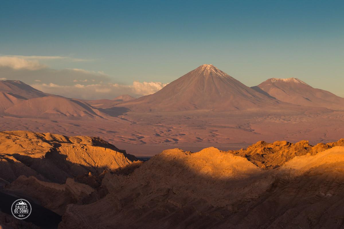 chile valle de la luna pustynia atacama wulkany zachod slonca