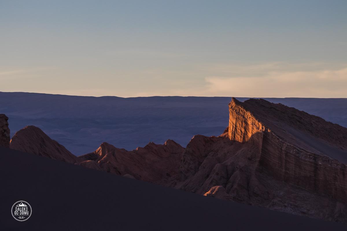 chile valle de la luna pustynia atacama zachod slonca amfiteatr