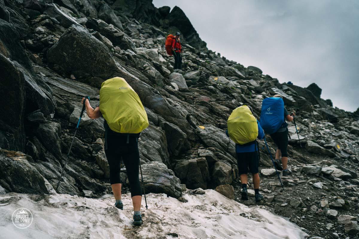 tour du mont blanc trekking tmb 2018 le brevent śnieg